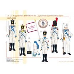 Il 1º reggimento di fanteria di Linea del Regno di Napoli, 1807-1811