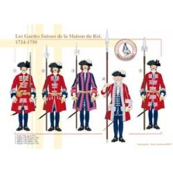 Die Schweizer Garde des Königshauses, 1724-1750