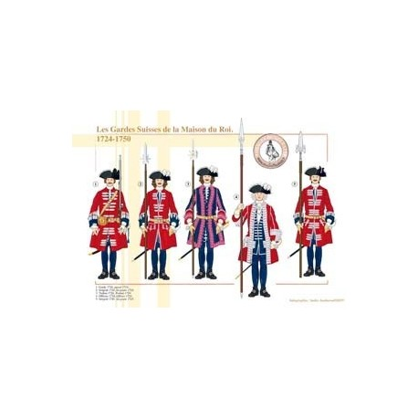 The Swiss Guards of the King's House, 1724-1750