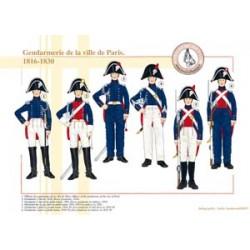 Gendarmerie der Stadt Paris, 1816-1830