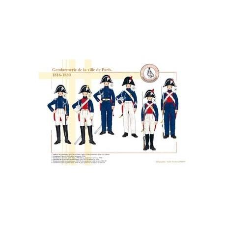 Gendarmerie de la ville de Paris, 1816-1830