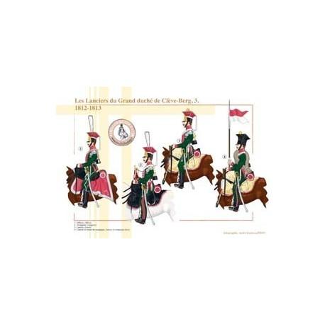 Les Lanciers du Grand duché de Clève-Berg (3), 1812-1813