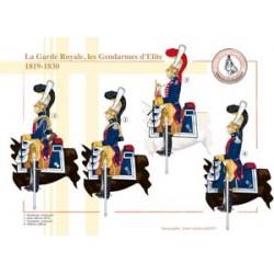 La Garde Royale, les Gendarmes d'Elite, 1819-1830