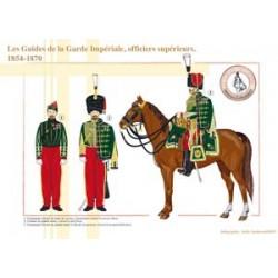 Les Guides de la Garde Impériale, officiers supérieurs, 1854-1870
