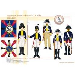 Regiment Fürst Hohenlohe, IR Nr. 32, 1800-1807