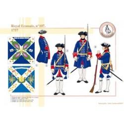 Royal Écossais, n°107, 1757