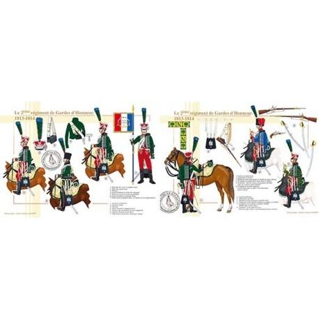 Le 2ème régiment de Gardes d'Honneur, 1813-1814
