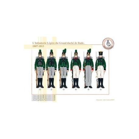 L'infanterie Légère du Grand duché de Bade, 1807-1813