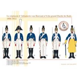 Das von Harrant Infanterieregiment Nr. 4 des Großherzogtums Baden, 1806-1812