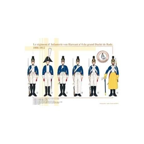 The von Harrant Infantry Regiment No. 4 of the Grand Duchy of Baden, 1806-1812