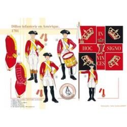 Dillon infanterie en Amérique, 1781