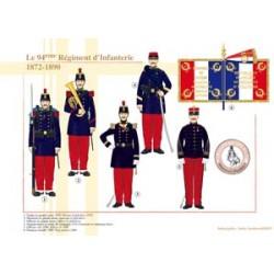 Le 94ème Régiment d'Infanterie, 1872-1890