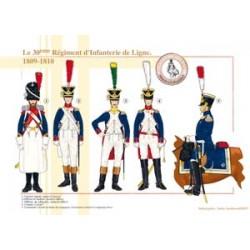 Das Infanterieregiment der 30. Linie, 1809-1810