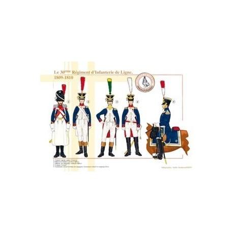 Le 30ème Régiment d'Infanterie de Ligne, 1809-1810