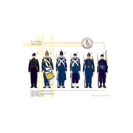 Le Génie, 1854-1870