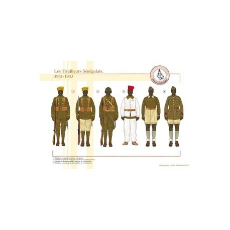 Les Tirailleurs Sénégalais, 1941-1943
