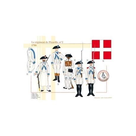 Le régiment de Picardie n°2, 1786