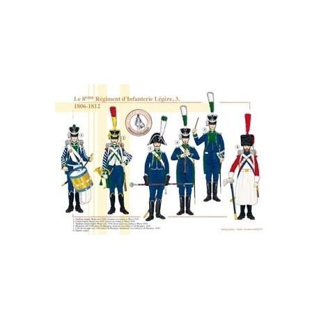 Le 8ème Régiment d'Infanterie Légère (3), 1806-1812