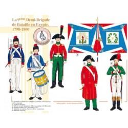 La 9ème Demi-Brigade de Bataille en Egypte, 1798-1800