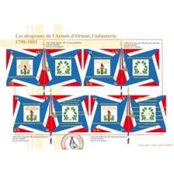 Les drapeaux de l'Armée d'Orient, l'infanterie, 1798-1801