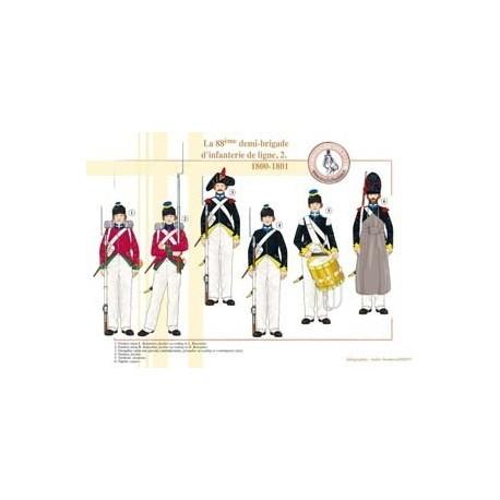 La 88ème demi-brigade d'infanterie de ligne (2), 1800-1801