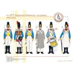 Le 10ème Régiment d'Infanterie, von Junker, 1810-1814