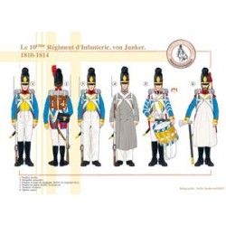 The 10th Infantry Regiment, von Junker, 1810-1814