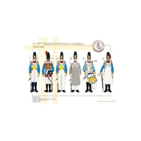 The 10th Infantry Regiment, von Junker, 1810-1814