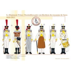 Le Régiment Prince Maximilien puis von Rechten du royaume de Saxe, 1810-1813