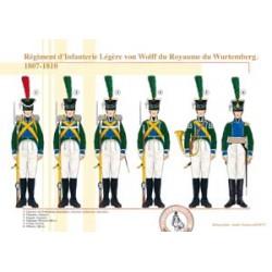 Régiment d'Infanterie Légère von Wolff du Royaume du Wurtemberg, 1807-1810