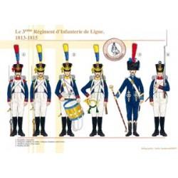 Le 3ème Régiment d'Infanterie de Ligne, 1813-1815