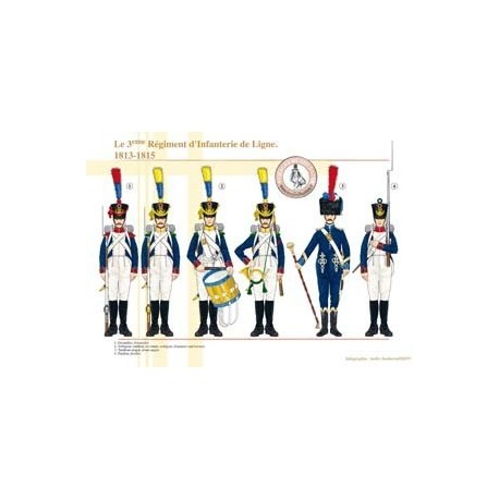 The 3rd French Regiment of Line Infantry, 1813-1815