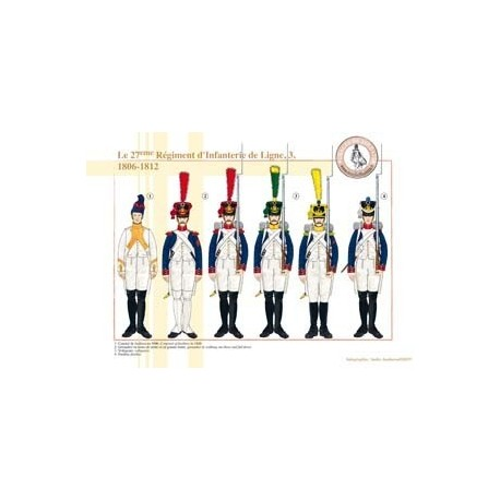 Le 27ème Régiment d'Infanterie de Ligne (3), 1806-1812