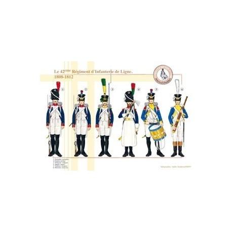 Le 42ème Régiment d'Infanterie de Ligne, 1808-1812