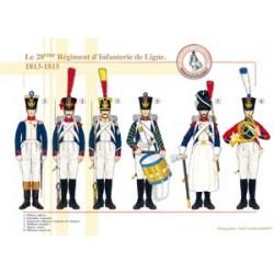 Le 28ème Régiment d'Infanterie de Ligne, 1813-1815