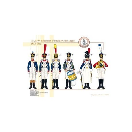 The 28th Line Infantry Regiment, 1813-1815