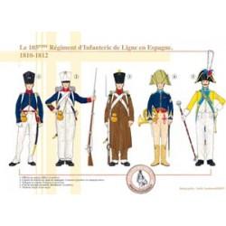 Le 105ème Régiment d'Infanterie de Ligne en Espagne, 1810-1812