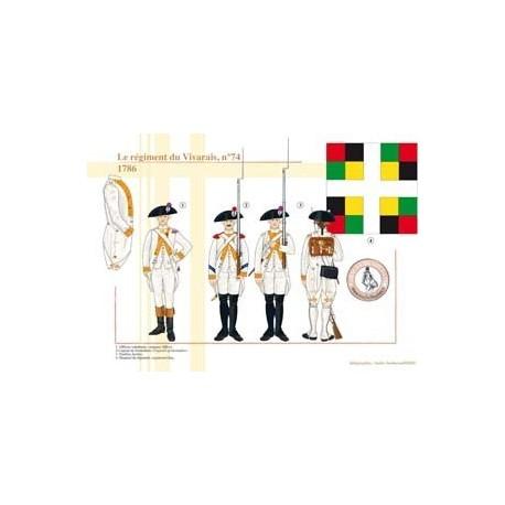 Le régiment du Vivarais n°74, 1786