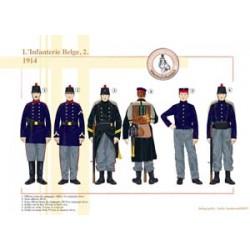Belgische Infanterie (2), 1914