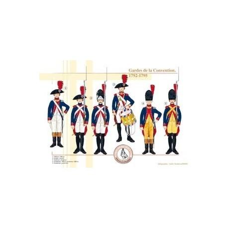 Gardes de la Convention, 1792-1795