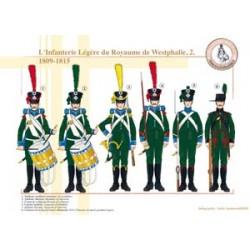 L'Infanterie Légère du Royaume de Westphalie (2), 1809-1815