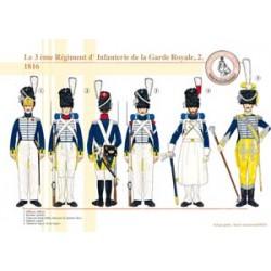 Le 3ème Régiment d'Infanterie de la Garde Royale (2), 1816