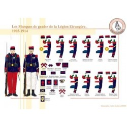 The marks of ranks of the French Foreign Legion, 1905-1914