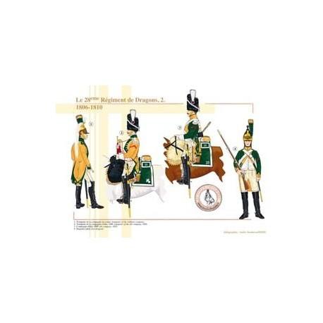 Le 28e Régiment de Dragons (2), 1806-1810