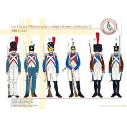La Légion Piémontaise, troupes franco-italienne (2), 1803-1811