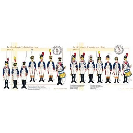 Le 18e régiment d'Infanterie de Ligne, 1807-1812