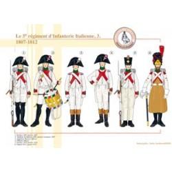 Le 5e régiment d'infanterie Italienne (3), 1807-1812