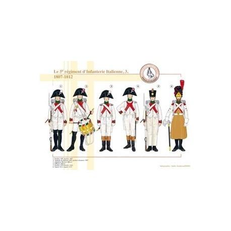 The 5th Italian infantry regiment (3), 1807-1812