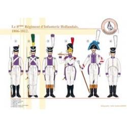 Das 8. niederländische Infanterieregiment, 1806-1812