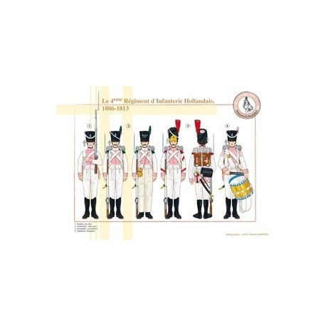 Le 4ème Régiment d'Infanterie Hollandais, 1806-1813